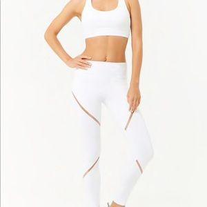 White Workout Leggings Forever 21